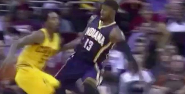 VIDEO J.R. Smith Drops Paul George With Behind-the-Back Crossover