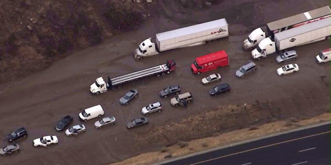 Interstate 5 In California Remains Closed After Flash Floods, Mudslides