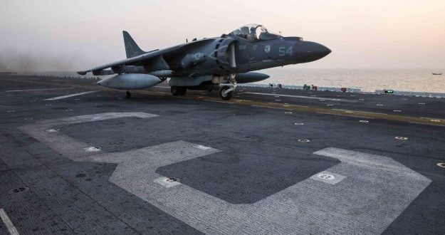 VIDEO Navy Launches Aircraft From Assault Ship USS Kearsarge to Join Operation Against Islamic State Group