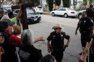 Church of Lucifer in Old Town Spring, Texas Opens During Protests