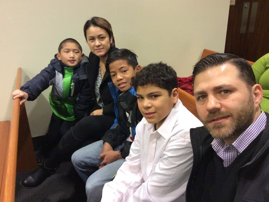 The Canna family: Luke, Juana, Gian, Alexander and Anthony, live in North Brunswick. Luke was born in China; Gian was born in the Philippines. (Photo: Pamela MacKenzie/Staff Photo)
