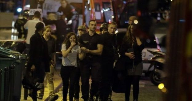 At least 46 dead in attacks in Paris; 100 taken hostage