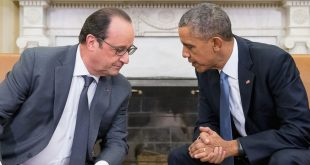 French President François Hollande Meets With US President Barack Obama at White House