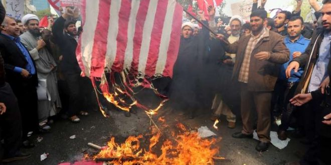 Iranians Chant 'Death to America' Burning American Flag in Honor of US Embassy Seizure 36 Years Ago