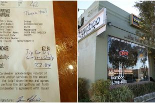 Waitress Receives Larger Tips After Getting Offensive Note in Redondo Beach, California