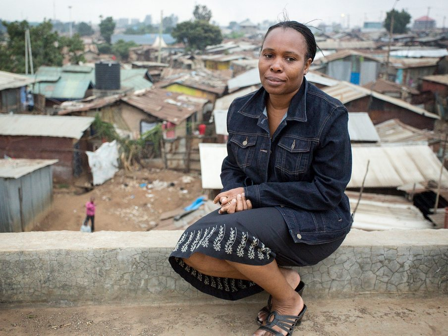 Jane Otai grew up with no toilet in her family home. She'd try not to drink water so she could avoid visits to the unappealing community toilet.