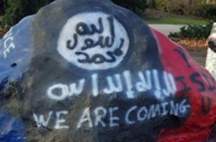Messages Supporting ISIS Painted on Youngstown State University Rock