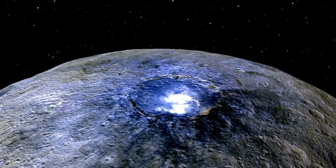 Salty Source of Dwarf Planet Ceres Mysterious Bright Spots Found