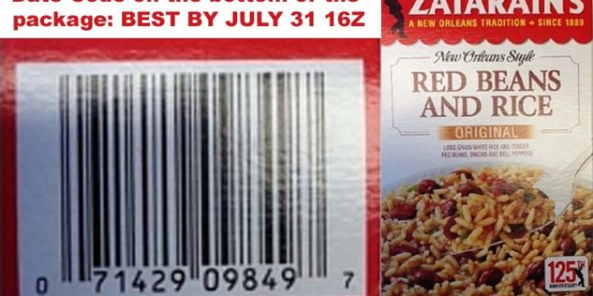 Zatarain's Red Beans and Rice Recalled for Dairy Allergens