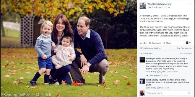 British Royal Couple Duke and Duchess of Cambridge Release New Family Photo