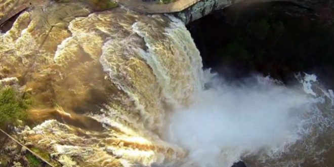 VIDEO Incredible View of Noccalula Falls Park at Flood Levels