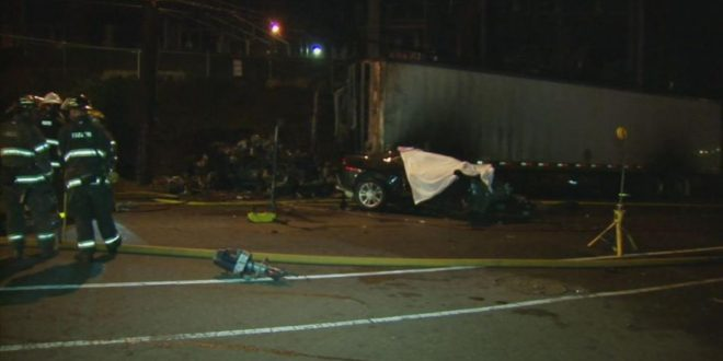 Northeast Philadelphia: 3 Killed After Vehicle Crashes into Parked Semitractor-Trailer