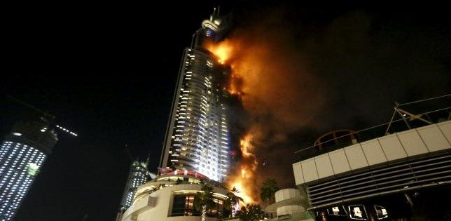 VIDEO Dubai, United Arab Emirates: Fire Engulfs Address Hotel Tower Before New Year Celebrations