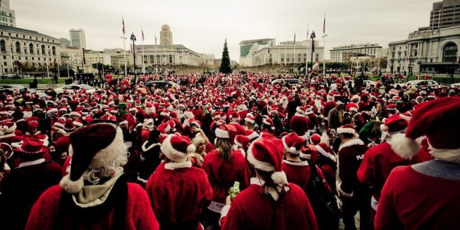 SantaCon Looks a Lot Like Christmas. Christmas 1820, That Is.