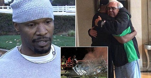VIDEO Jamie Foxx Rescues Driver From Burning Truck