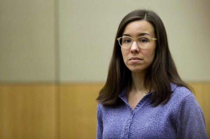 Jodi Arias was convicted of first-degree murder in May 2013 in the 2008 killing of ex-boyfriend Travis Alexander. She's currently serving time in an Arizona federal prison (AP Photo/The Arizona Republic, Cheryl Evans, Pool). Read more at http://www.inquisitr.com/2740446/jodi-arias-audio-bombshell-convicted-murderess-brags-about-prison-life-in-recorded-phone-call/#SXppykq6hqabMTcO.99