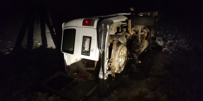 Hines, Oregon: Militant Cited For Driving Without License After Van Overturns