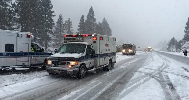 29-Vehicle Crash Closes Section of Interstate 80 Near Truckee, Calif.