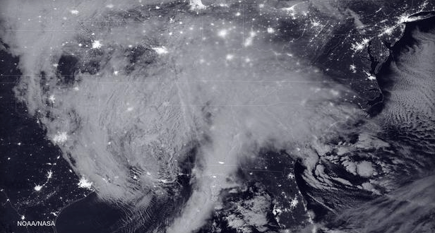NASA Releases Stunning Satellite Image Of The Blizzard From Space