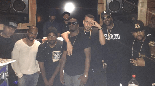 Kanye West Works On Waves With Andre 3000, 2 Chainz, Kid Cudi, French Montana, More