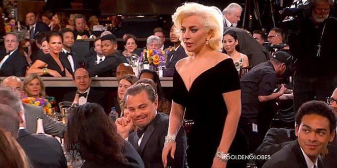 Leonardo DiCaprio THROWS SHADE at Lady Gaga as She Scoops Golden Globe for Best TV Actress