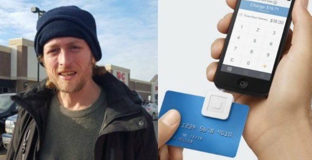 Detroit Homeless Man Honest Abe Accepts Credit Card Donations Via Smartphone