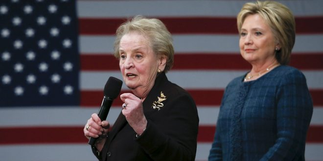 Madeleine Albright Regrets Comment about Women in Hell