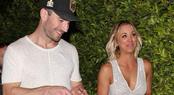Kaley Cuoco and Sam Hunt Seen Leaving Grammys After-Party Together