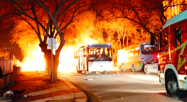 VIDEO At Least 28 Dead by Ankara Car Bomb Targeting Military Personnel