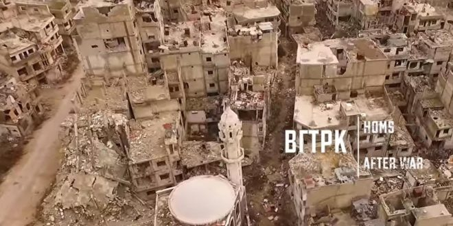 VIDEO Drone Shows Completely Abandoned Bombed Ruins of Homs, Syria