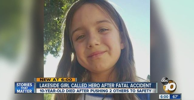 Lakeside, California: 10-Year-Old Girl Dies Saving 2 Toddlers From Runaway Vehicle