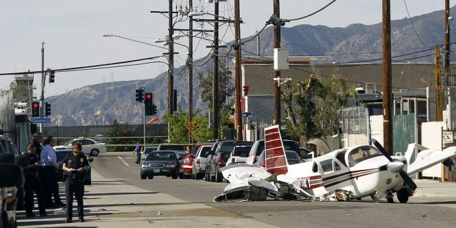 VIDEO Plane Crashes On Street Outside Whiteman Airport in Pacoima