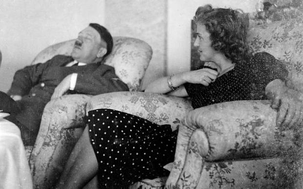 Adolph Hitler and Eva Braun in Berghof  Photo: Roger-Viollet/REX