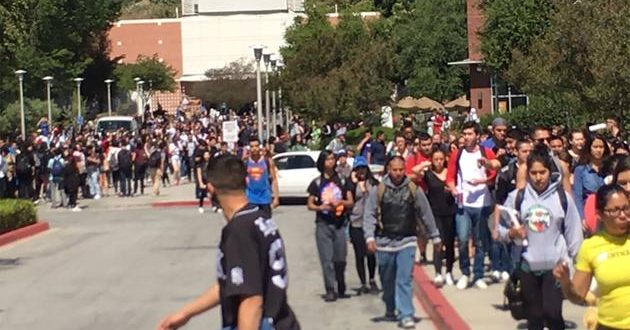 WALNUT, Calif. -- A bomb threat has forced the evacuation of Mt. San Antonio College and the lockdown of Walnut High School.
