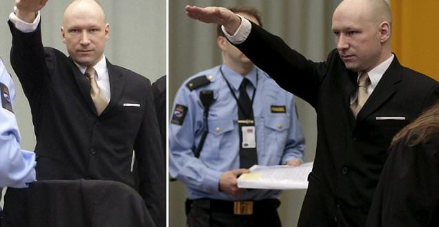 Anders Behring Breivik Makes Nazi Salute as He Sues Norway for 'Inhuman Treatment'