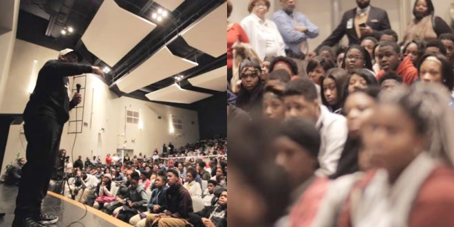 VIDEO Things Get Intense When Motivational Speaker Gets Interrupted By Students