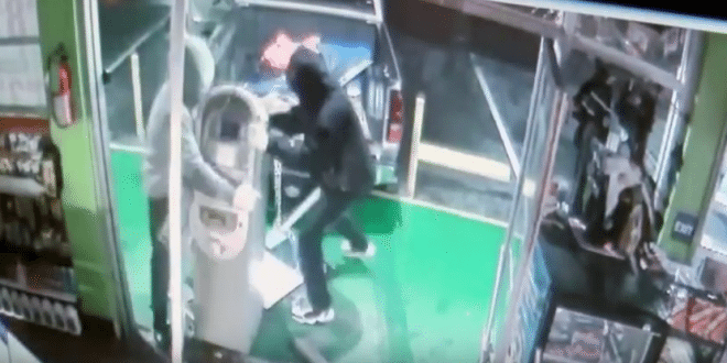 Thieves Captured on Camera Breaking Into Fresno, California Store to Steal ATM