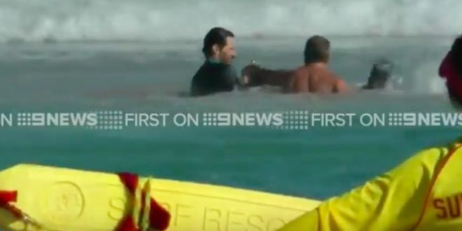 VIDEO Hugh Jackman Rescues Children From Dangerous Riptide