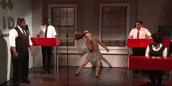 VIDEO Ariana Grande Saves Tidal On 'SNL' Impersonates Britney Spears, Rihanna, and More
