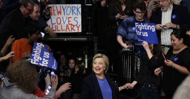 Hillary Clinton Faces Disruptive Bernie Sanders' Supporters in New York