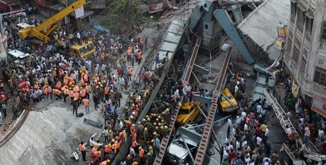 At Least 15 Dead, Dozens Injured After Flyover Collapses in Kolkata, India