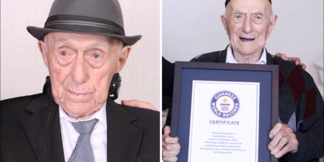 Worlds Oldest Man is 112-year-old Holocaust Survivor - Guiness World Records