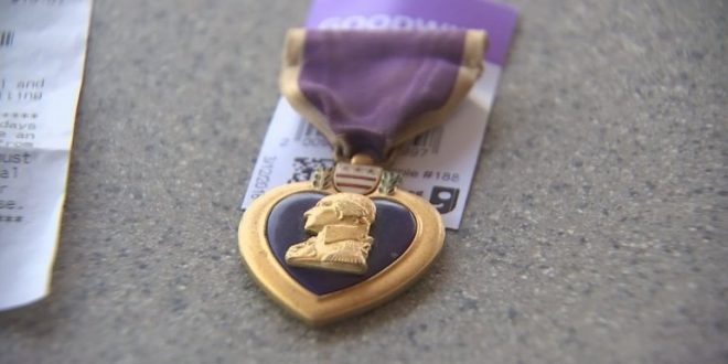 Purple Heart Found at Goodwill Returned to WWII Veteran's Family