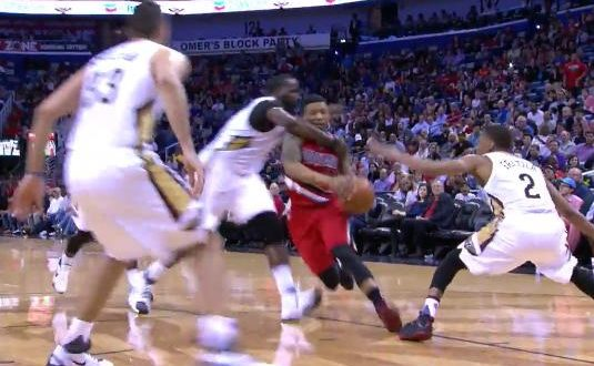 Clotheslining Gorgeous VIDEO Kendrick Perkins Ejected After Clotheslining Damian Lillard