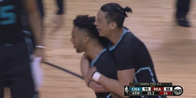 WATCH: Courtney Lee 3-Pointer Seals Win, Beat Miami in Game 5