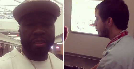 VIDEO 50 Cent Faces Backlash After Mocking Disabled Airport Employee