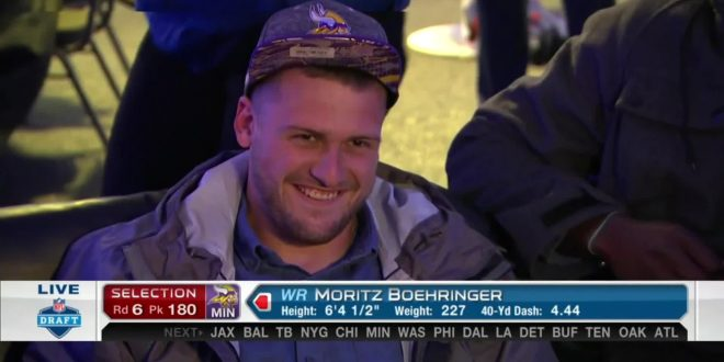 Vikings Make History With Selection of Receiver Moritz Boehringer at NFL Draft