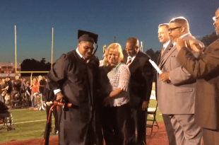 Teen With Cerebral Palsy Disorder Walks for 1st Time to Accept High School Diploma at Graduation