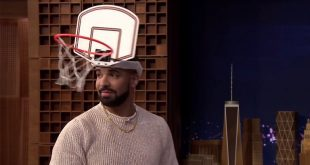 "VIDEO Jimmy Fallon Dunks on Drake in Close Game of ""Faceketball"""