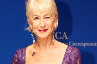 Actress Helen Mirren Pays Tribute to Prince with Purple Dress and Tattoo at White House Correspondents Dinner